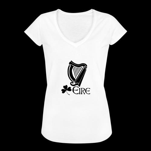 Irish Harp and Shamrock - Women's Vintage T-Shirt