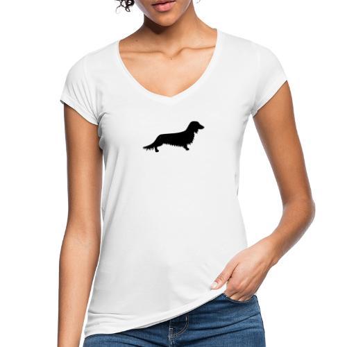 Langhaardackel - Frauen Vintage T-Shirt