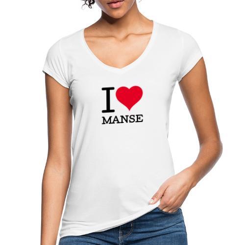 I love Manse - Naisten vintage t-paita