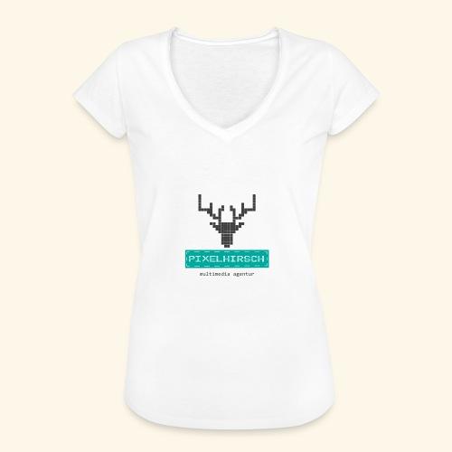 PIXELHIRSCH - Logo - Frauen Vintage T-Shirt