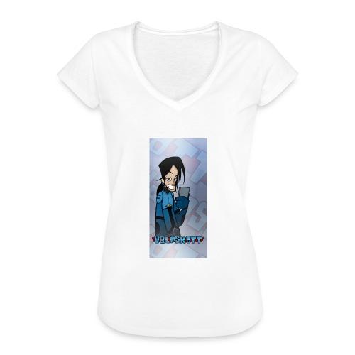 Valp Mobilskal png - Vintage-T-shirt dam