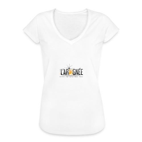 L'ARAIGNÉE, logo noir - T-shirt vintage Femme