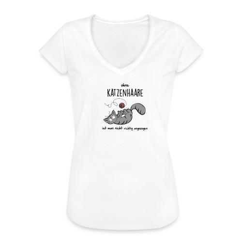 Vorschau: ohne KATZENHAARE ist man nicht richtig angezogen - Frauen Vintage T-Shirt