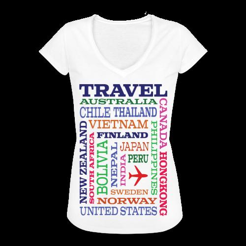 Travel Places design - Naisten vintage t-paita