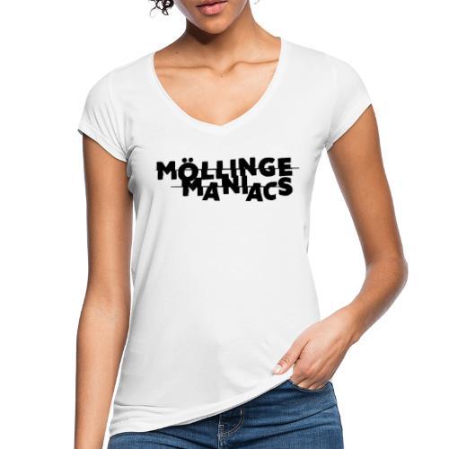 Möllinge Maniacs svart logga - Vintage-T-shirt dam