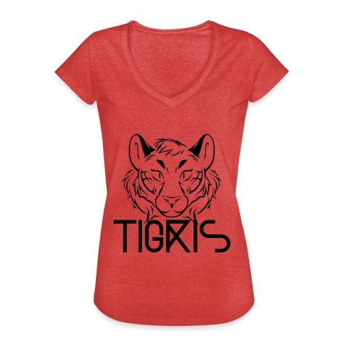 Tigris Logo Picture Text Black - Women's Vintage T-Shirt