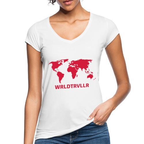Worldtraveller - Frauen Vintage T-Shirt