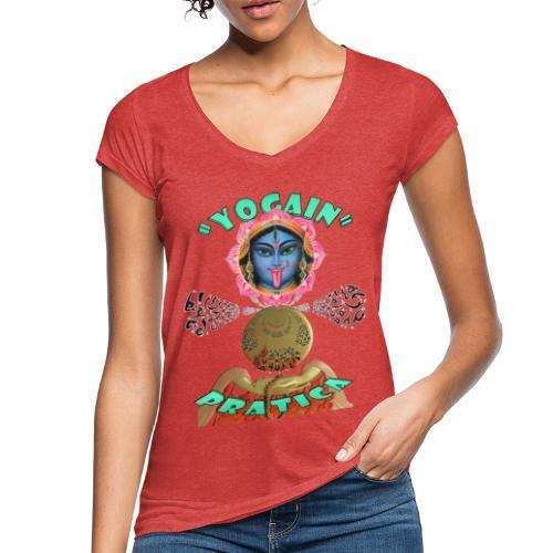 YogaIn Pratica - Maglietta vintage donna