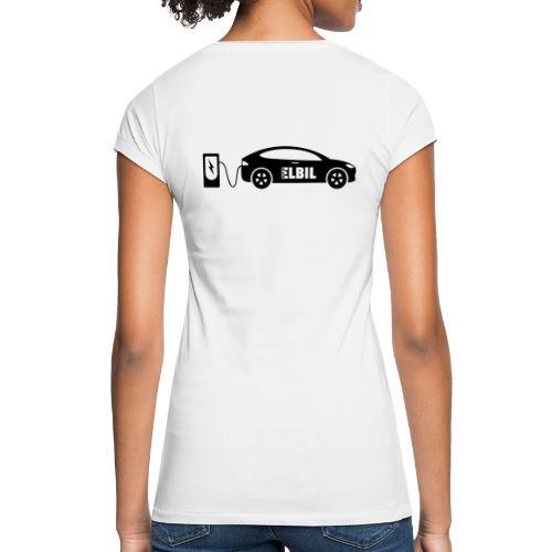 Reklamtryck Allt om Elbil - Vintage-T-shirt dam