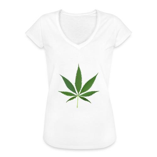 2000px-Cannabis_leaf_2 - Dame vintage T-shirt