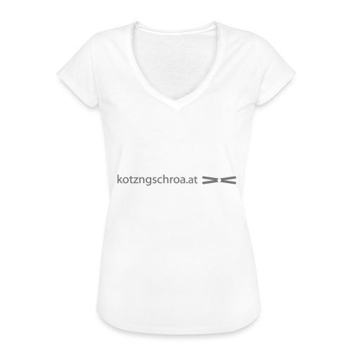 kotzngschroaat motiv - Frauen Vintage T-Shirt