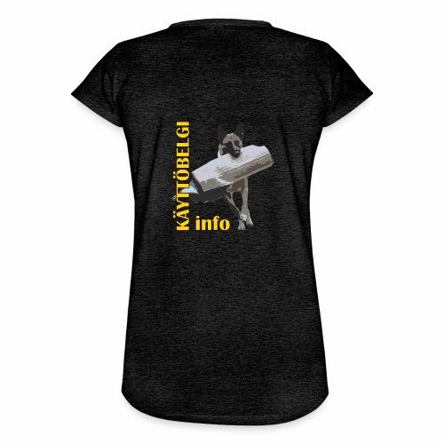 Käyttöbelgi.infon logotuotteet - Naisten vintage t-paita