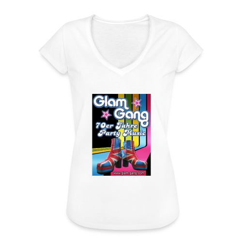 Glam Gang 70's Party Band - Frauen Vintage T-Shirt