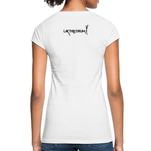 LOGO 1 LIGNE/ noir et blanc - T-shirt vintage Femme