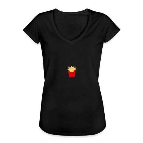 T-shirt noir Frite - T-shirt vintage Femme