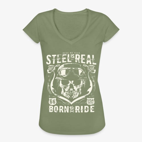 Have No Fear Is Real Born To Ride est 68 - Women's Vintage T-Shirt