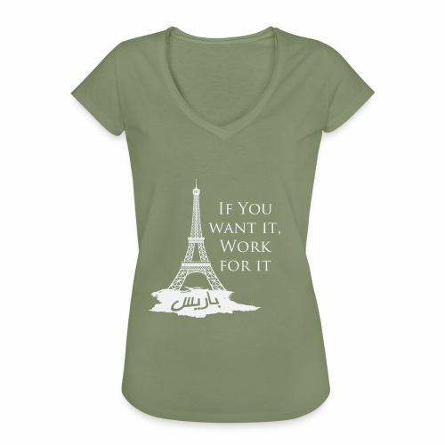 Paris dream work - T-shirt vintage Femme