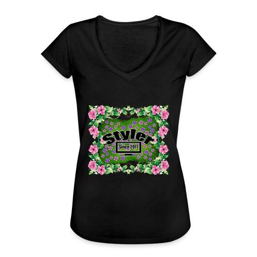 Styler Bloemen Design - Vrouwen Vintage T-shirt