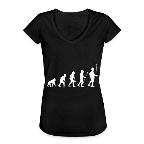 Evolution Stabführer weiß - Frauen Vintage T-Shirt