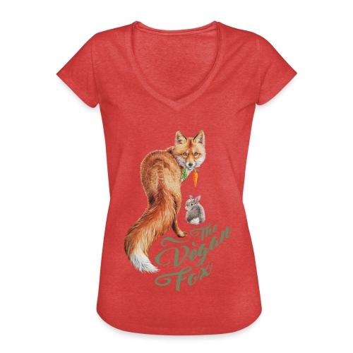 The Vegan Fox door Maria Tiqwah - Vrouwen Vintage T-shirt