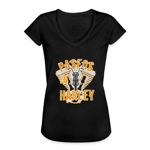Paseos en H a r l e y - Camiseta vintage mujer