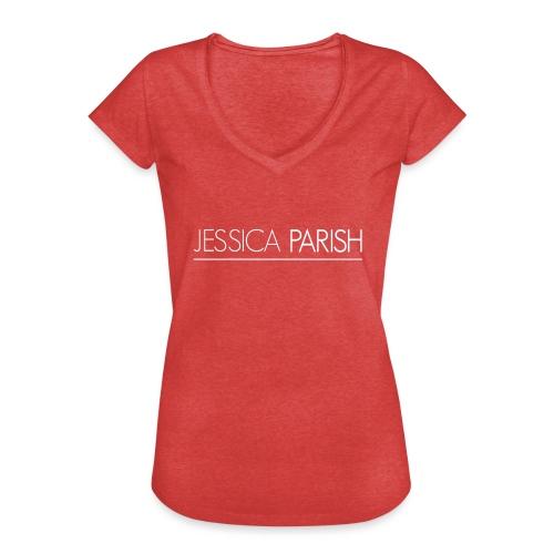 Jessica Parish Schriftzug weiß - Frauen Vintage T-Shirt