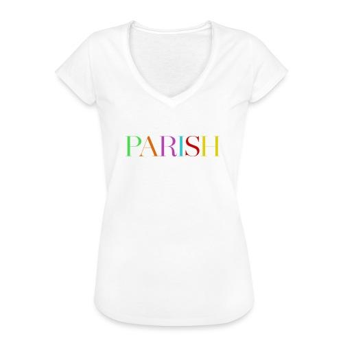 Jessica Parish Color-Schriftzug white - Frauen Vintage T-Shirt