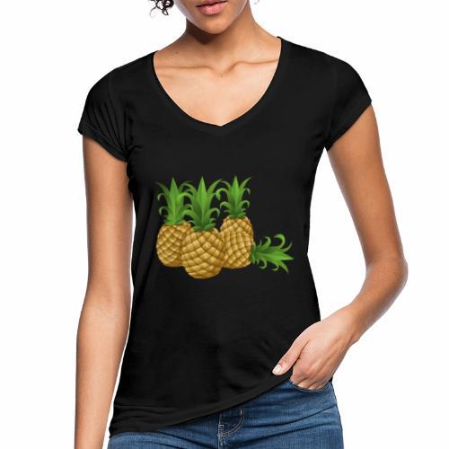 Ananas - Frauen Vintage T-Shirt