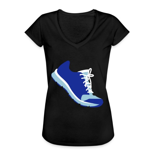 Laufschuh - Frauen Vintage T-Shirt