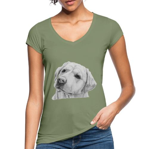 labrador retriever yellow - head - Dame vintage T-shirt