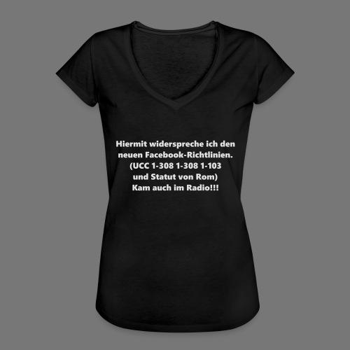 Facebook-AGB - Männer - Frauen Vintage T-Shirt