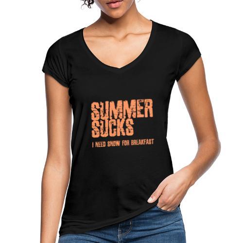 SUMMER SUCKS - Vrouwen Vintage T-shirt