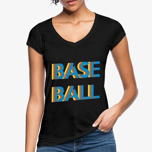 Baseball relief - T-shirt vintage Femme