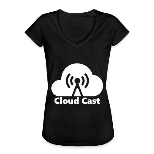 Cloud Cast White mit Schriftzug - Frauen Vintage T-Shirt