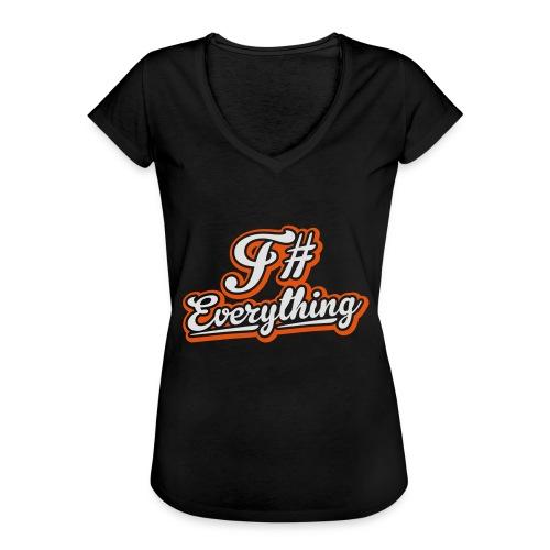 F# Everything - Women's Vintage T-Shirt