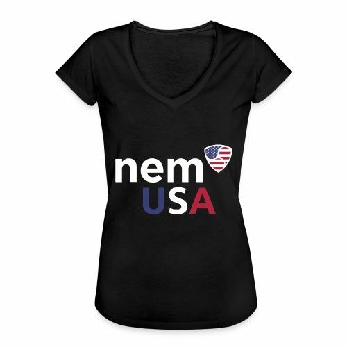 NEM USA white - Maglietta vintage donna