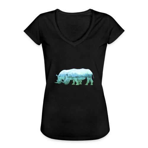 RHINOS, DIE NASHÖRNER IN DEN ALPEN - Frauen Vintage T-Shirt