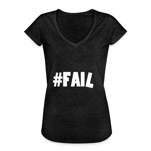 FAIL / White - T-shirt vintage Femme