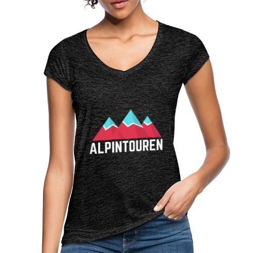 Alpintouren Logo - Frauen Vintage T-Shirt