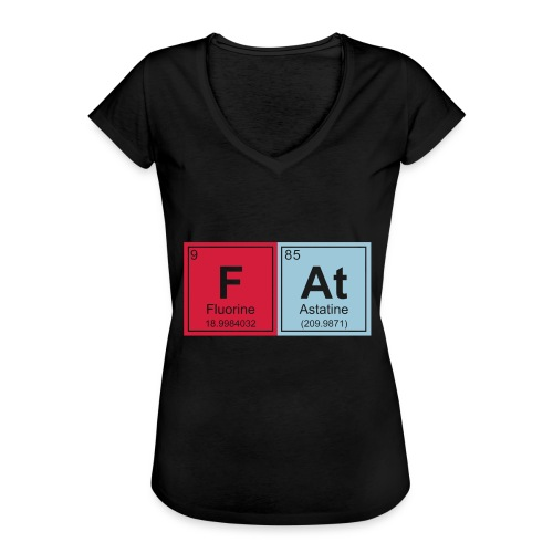 Geeky Fat Periodic Elements - Women's Vintage T-Shirt