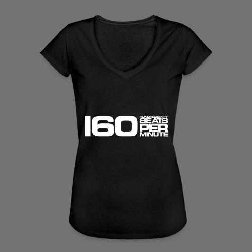 160 BPM (valkoinen pitkä) - Naisten vintage t-paita