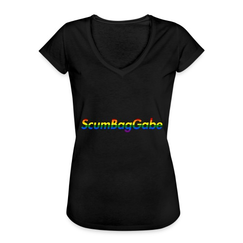 ScumBagGabe Multi Logo XL - Women's Vintage T-Shirt