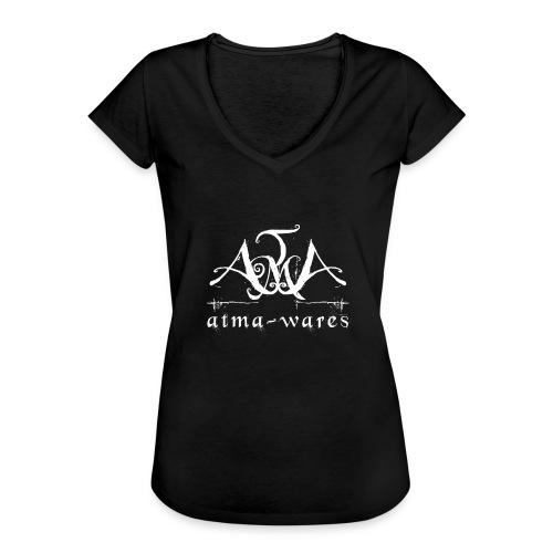 atma wares logo white - Vrouwen Vintage T-shirt