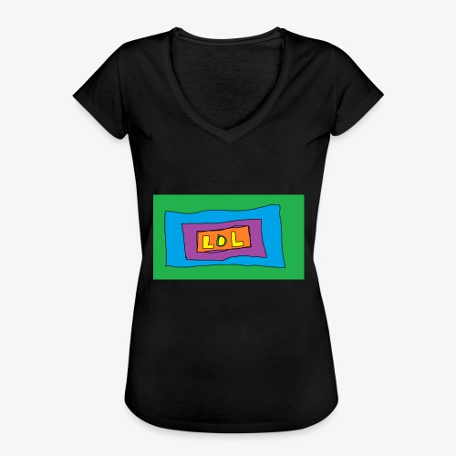LOL is a word that i say all day - Vintage-T-shirt dam