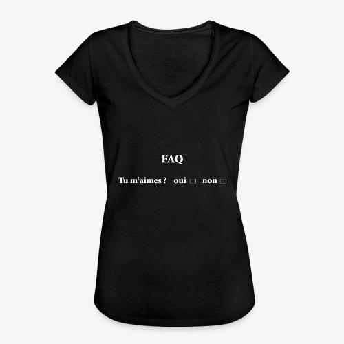 FAQ tu m aimes ? oui non - T-shirt vintage Femme