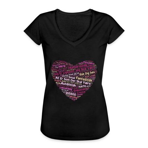 Hjerte - Dame vintage T-shirt