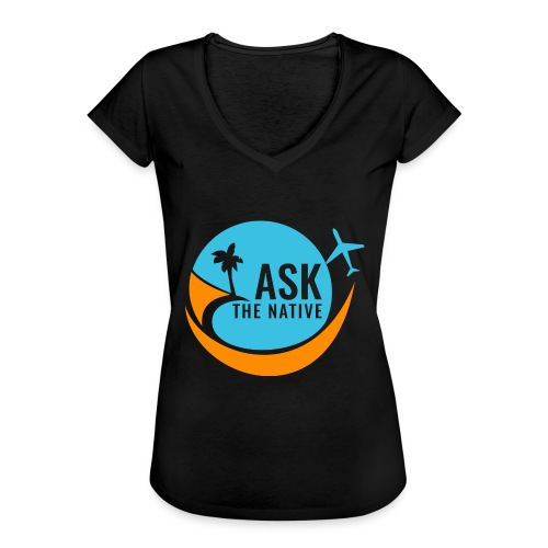Ask the Native Original Logo - Vrouwen Vintage T-shirt