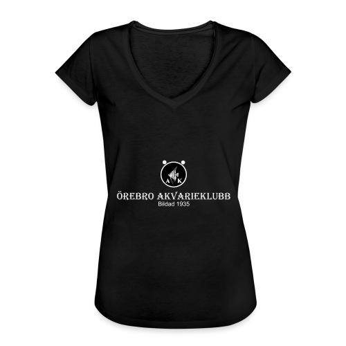 nyloggatext2medvitaprickar - Vintage-T-shirt dam