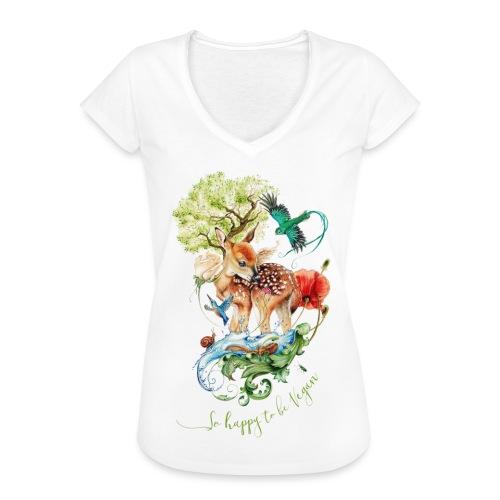 Schattig hertje door Maria Tiqwah - Vrouwen Vintage T-shirt