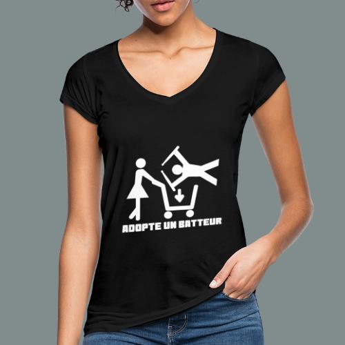 Adopte un batteur - idee cadeau batterie - T-shirt vintage Femme